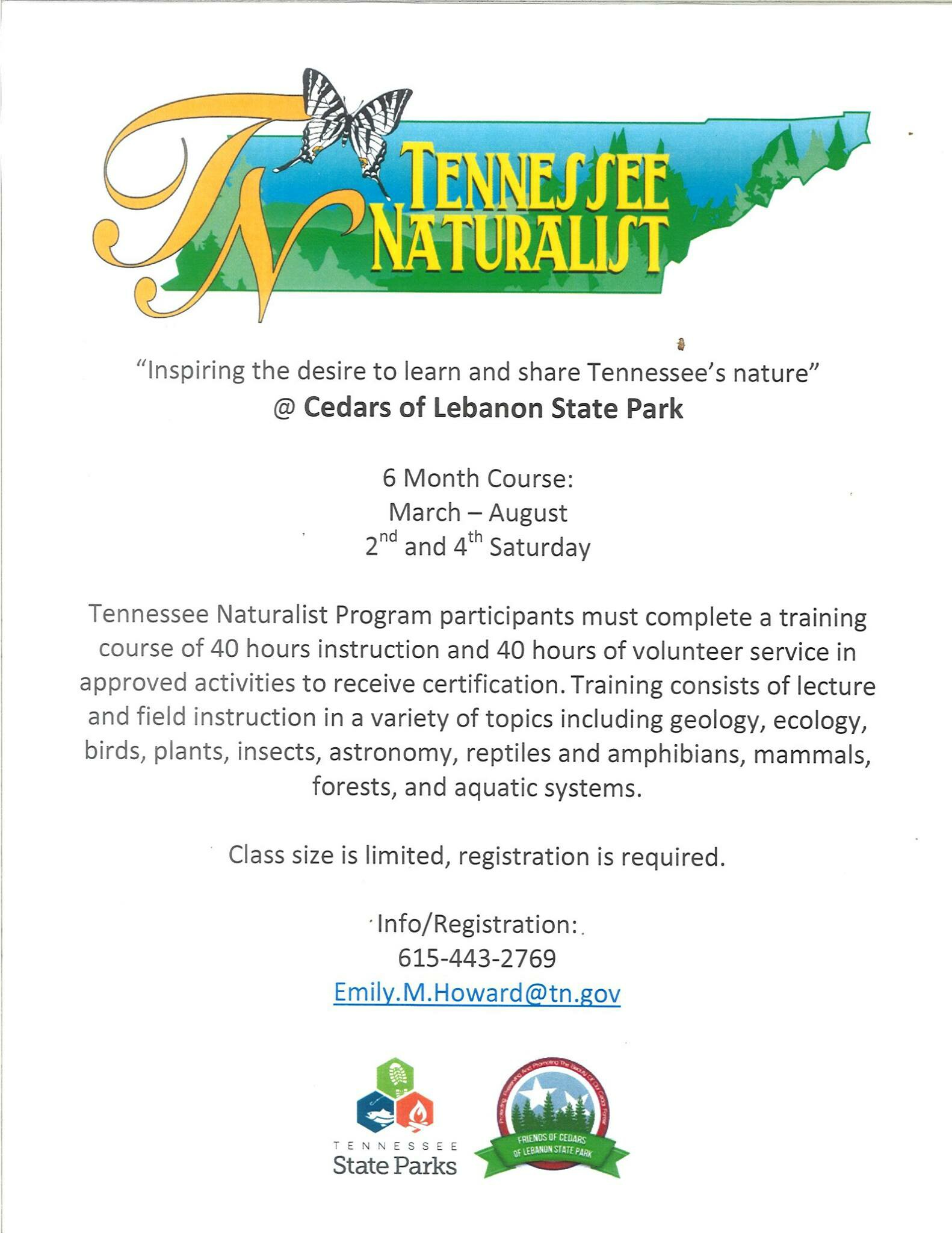 naturalist program Tennessee